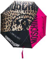 Moschino Зонт С Логотипом И Вставками - Розовый