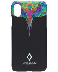 Marcelo Burlon Iphone Xs Hoesje Met Print - Zwart
