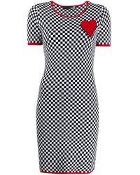 Love Moschino - チェッカー ドレス - Lyst