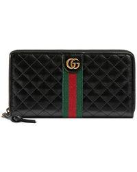 Gucci Кошелек С Круговой Молнией И Логотипом - Черный