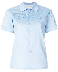 Julien David - Embroidered Fitted Shirt - Lyst