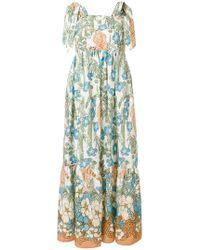 Shirtaporter - Floral Flared Dress - Lyst