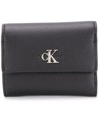 Calvin Klein フラップ財布 - ブラック