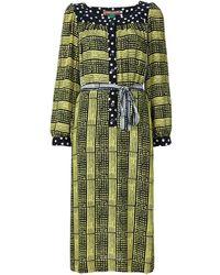 Duro Olowu Tunika-Kleid mit Print - Gelb