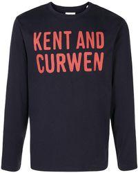 Kent & Curwen ロゴ ロングtシャツ - ブルー