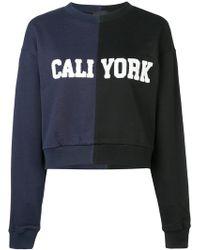 Cynthia Rowley - Cali/york Bicolour Sweatshirt - Lyst
