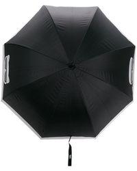 Karl Lagerfeld Двухцветный Зонт Cat Face - Многоцветный