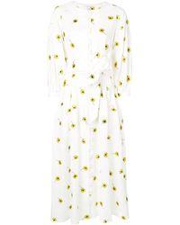 Olivia Rubin プリント ドレス - ホワイト
