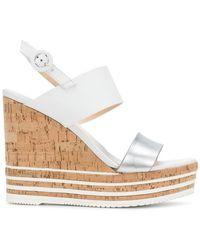 Hogan - Wedged Sandals - Lyst