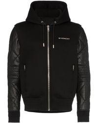 Givenchy コントラストスリーブ ジャケット - ブラック