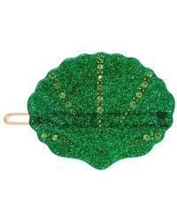 Valet Studio Kiki Shell Hair Clip - Green