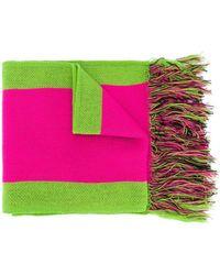 Gcds ロゴ ストライプ スカーフ - ピンク