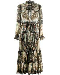 Etro Платье С Ярусными Оборками - Черный