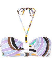 Emilio Pucci Top de bikini con estampado abstracto - Multicolor