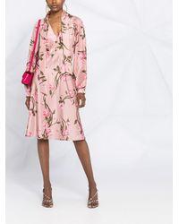 Alberta Ferretti Платье С Цветочным Принтом - Розовый