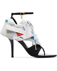 Off-White c/o Virgil Abloh Sandalias 100 con tacón y diseño de zapatillas - Negro