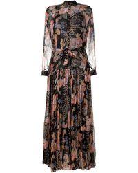Mes Demoiselles Платье Макси С Цветочным Принтом - Черный