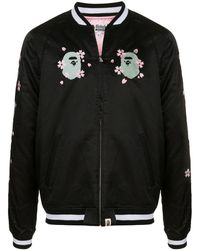 A Bathing Ape Sakura Souvenir ジャケット - ブラック