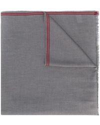 Brunello Cucinelli Sciarpa con dettagli a contrasto - Multicolore