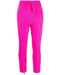 Laneus Pantalones de chándal de punto de ochos - Rosa