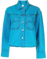 SJYP Veste crop en jean - Bleu