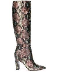 Sam Edelman 42mm Knee Length Snakeskin-effect Boots - Pink