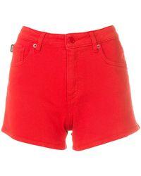 Love Moschino Короткие Джинсовые Шорты - Красный