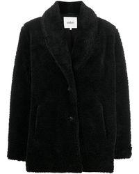 Ba&sh Faux Fur Long-sleeved Jacket - Black