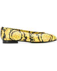 Versace Балетки С Принтом Baroque - Желтый