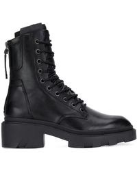 Ash Ботинки В Стиле Милитари - Черный