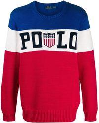 Polo Ralph Lauren トリコロールバッジ セーター - レッド
