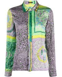 Versace サテンシャツ - グリーン