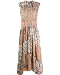 Chloé Платье С Принтом В Технике Пэчворк - Многоцветный