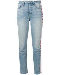 GRLFRND - Jean skinny à bandes logos - Lyst