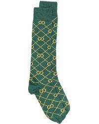 Gucci Носки Вязки Интарсия С Логотипом - Зеленый
