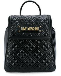 Love Moschino - キルティング ロゴ バックパック - Lyst