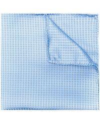 Emporio Armani - Micro-print Pocket Square - Lyst
