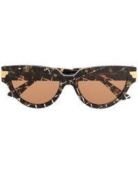 Bottega Veneta Солнцезащитные Очки Bv1035s В Оправе 'кошачий Глаз' - Черный