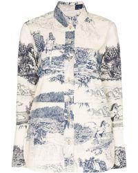 Chloé Рубашка С Принтом Toile De Jouy - Белый