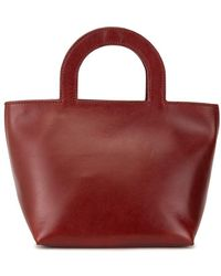 Building Block Tiny Stencil Tote - Red