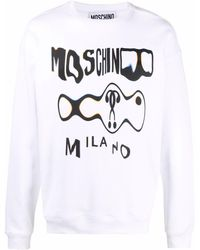 Moschino - Толстовка С Приспущенными Плечами И Графичным Принтом - Lyst