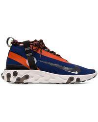 Nike - Blue Orange And Black Ispa React Trainers - Lyst