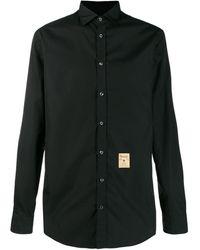 DSquared² タグ ポプリンシャツ - ブラック