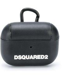 DSquared² Airpods Hoesje Met Logoprint - Zwart