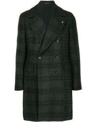Tagliatore Manteau à carreaux - Noir
