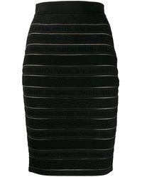 Balmain ロゴ スカート - ブラック