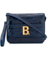 Balenciaga ロゴ ショルダーバッグ - ブルー