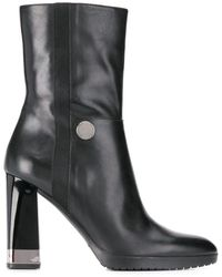 Emporio Armani Black Leather Ankle Boot