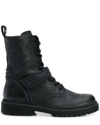 Moncler テクスチャード ブーツ - ブラック