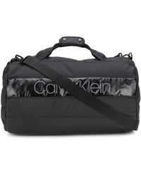 Calvin Klein Padded Logo Patch Holdall - Black